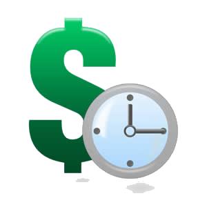 Знак доллара с часами