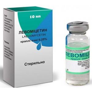 Лекарство для глаз Левомицетин
