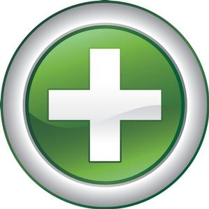 Плюс в зеленом круге