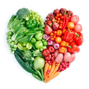 Овощи в форме сердца