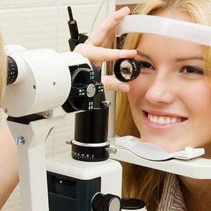 У офтальмолога