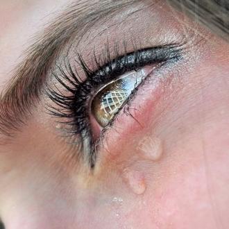 Слезы из глаз