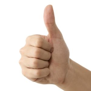 палец в верх
