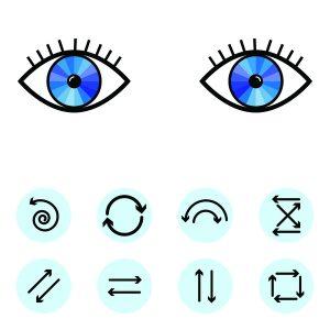 Таблица движения глаз