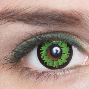 Зеленая линза на глах