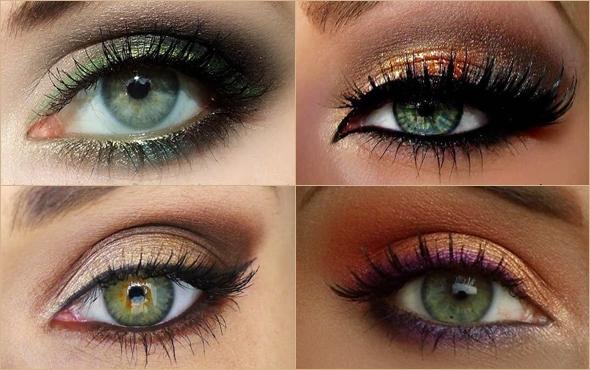 Виды макияжа для болотных глаз