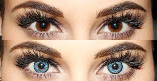 Глаза в цветных линзах